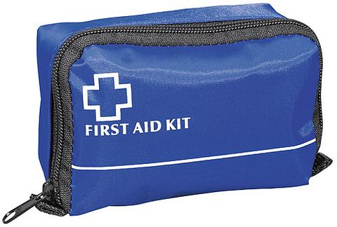 Blå Första hjälpenkudde i mellanstorlek