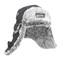 Svart / Silver Eskimo - Pälsmössa med tryck
