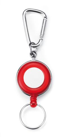 Röd Nyckelringar med eget tryck