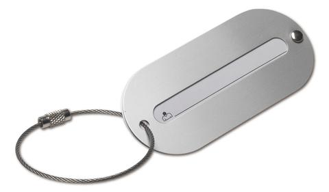 Silver Bagagaebricka i metall