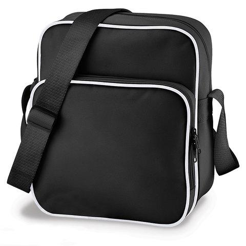 Svart/Vit Mindre väska med eget reklamtryck