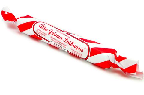 Äkta polkagrisar från Gränna med eget tryck