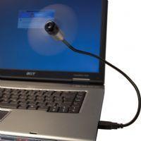 Svart Ledbar USB-fläkt för datorn