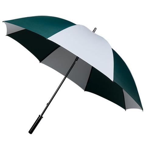 Mörkgrön / Vit Randiga paraplyer med eget tryck