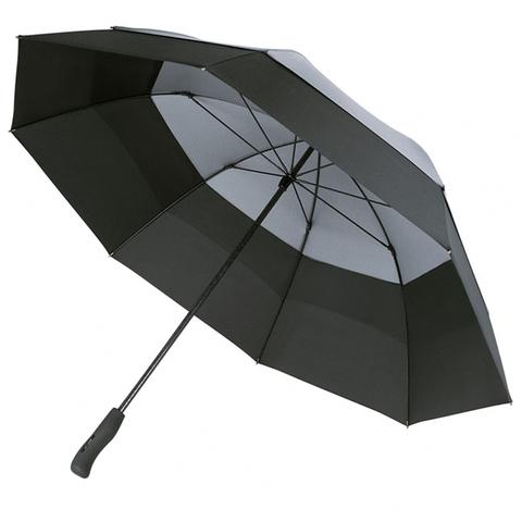 Svart Vårt bästa golfparaply med tryck