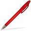 Transparent röd Pennor med tryck