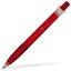 Transparent röd Billiga pennor med eget tryck