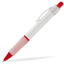 Röd (White) Billig reklampenna med skön skrivkänsla