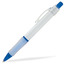 Mörkblå (White) Billig reklampenna med skön skrivkänsla