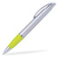 Silver/Gul Connor - Billig bläckpenna med reklamtryck