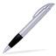 Silver/Svart Connor - Billig bläckpenna med reklamtryck