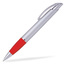 Silver/Röd Connor - Billig bläckpenna med reklamtryck