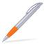 Silver/Orange Connor - Billig bläckpenna med reklamtryck