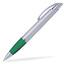 Silver/Grön Connor - Billig bläckpenna med reklamtryck
