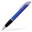 Blå / Transparent Connor - Billig bläckpenna med reklamtryck