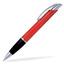 Röd / Transparent Connor - Billig bläckpenna med reklamtryck