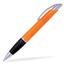 Orange / Transparent Connor - Billig bläckpenna med reklamtryck