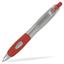 Silver/röd Silverlackade pennor med eget tryck