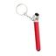 Röd Lufttrycksmätare och nyckelring med tryck