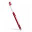 Röd Riktig tandborste med eget tryck