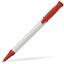 Röd Plastpennor i solida färger med reklamtryck