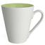 Limegrön / Vit Kaffemuggar med färgad insida