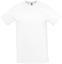 Vit T-shirt med sublimationstryck