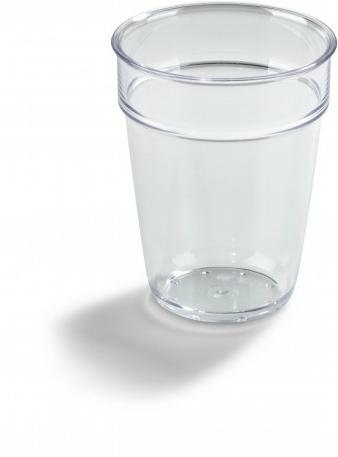 Transparent Allglas i plast med reklamtryck