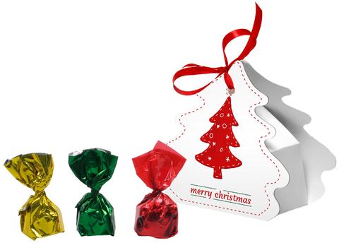 Julgransdekorationer av choklad