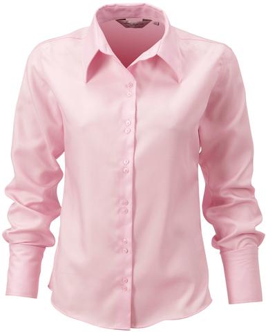 Classic Pink (långärmad) Strykfri damskjorta