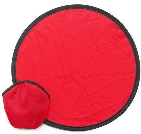 Röd Frisbees med reklamtryck