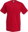 Röd V-ringad t-shirt med reklamtryck