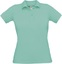 Pixel Turquoise Pikétröjor med tryck för dam