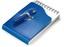 Blå Kompakta notisblock med penna - med tryck