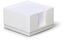 Vit Plastkub med vita anteckningspapper - med reklamtryck
