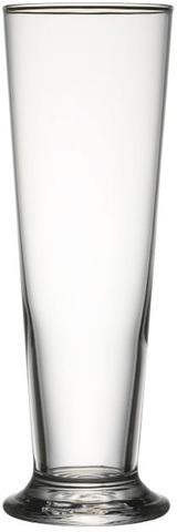 Transparent 39 cl-ölglas med reklamtryck
