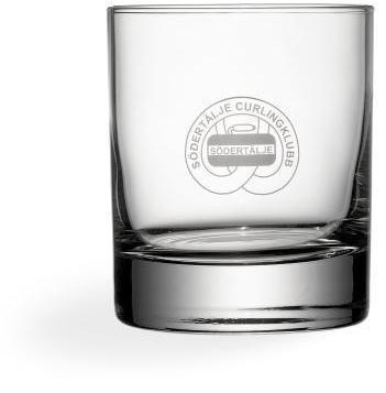 Transparent Rejäla whiskyglas med reklamtryck