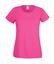 Fuchsia Figursydd damt-shirt med reklamtryck