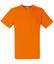 Orange V-ringad t-shirt med reklamtryck