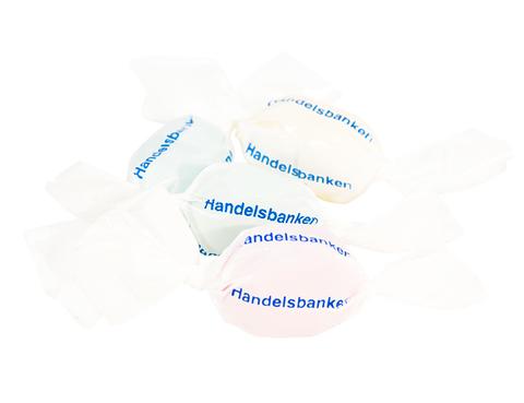 Cylinderbox (se tillval) Expresskarameller med reklamtryck
