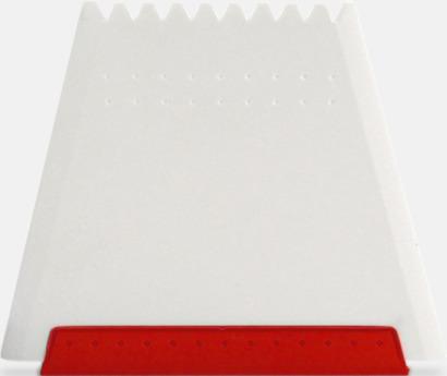 Röd Högkvalitativa isskrapor med fototryck