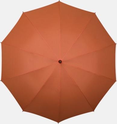 Orange Stora golfparaplyer med eget tryck