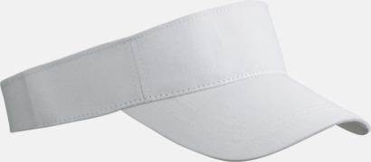 Vit Fashion - Enkel solskärm i bomull med tryck eller brodyr