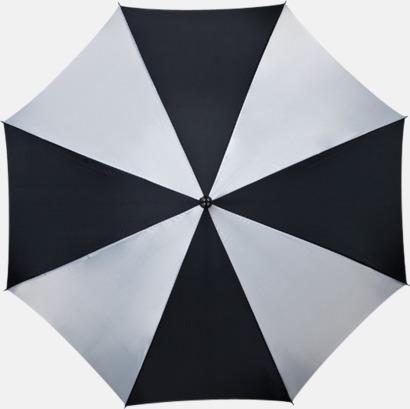 Svart / Vit Golfparaplyer med gummerade handtag