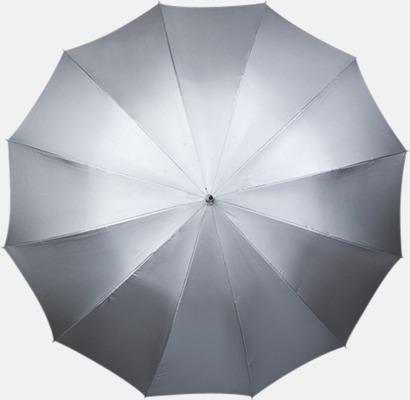 Silvergrå Paraplyer med tryck