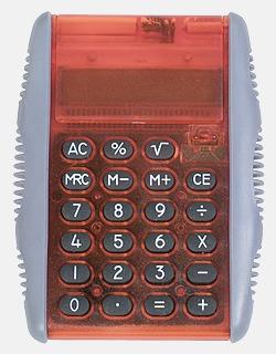 Röd/Frost Miniräknare med reklamtryck