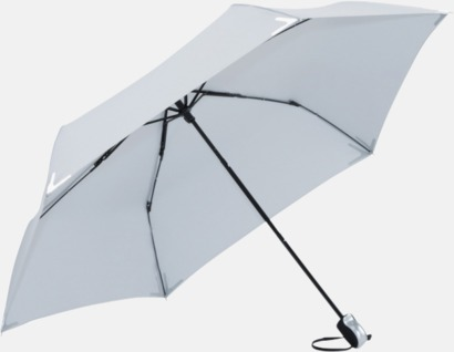 Svart Kompakta paraplyer med eget tryck