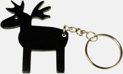 Älg (svart) Nyckelring Aluminium medtryck.com
