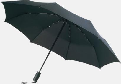 Svart Stormsäkert kompaktparaply med eget tryck