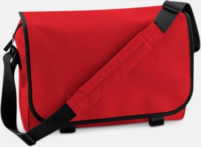 Classic Red/Svart Billiga väskor med reklamtryck